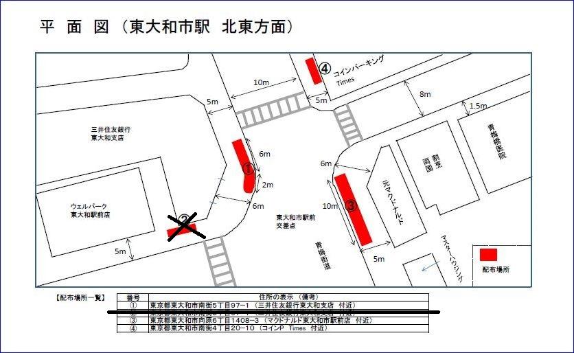 道路使用許可申請 平面図